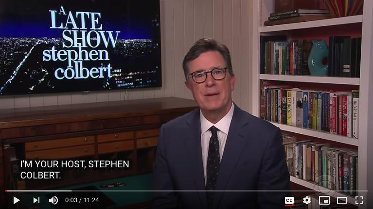 Screenshot of Stephen Colbert