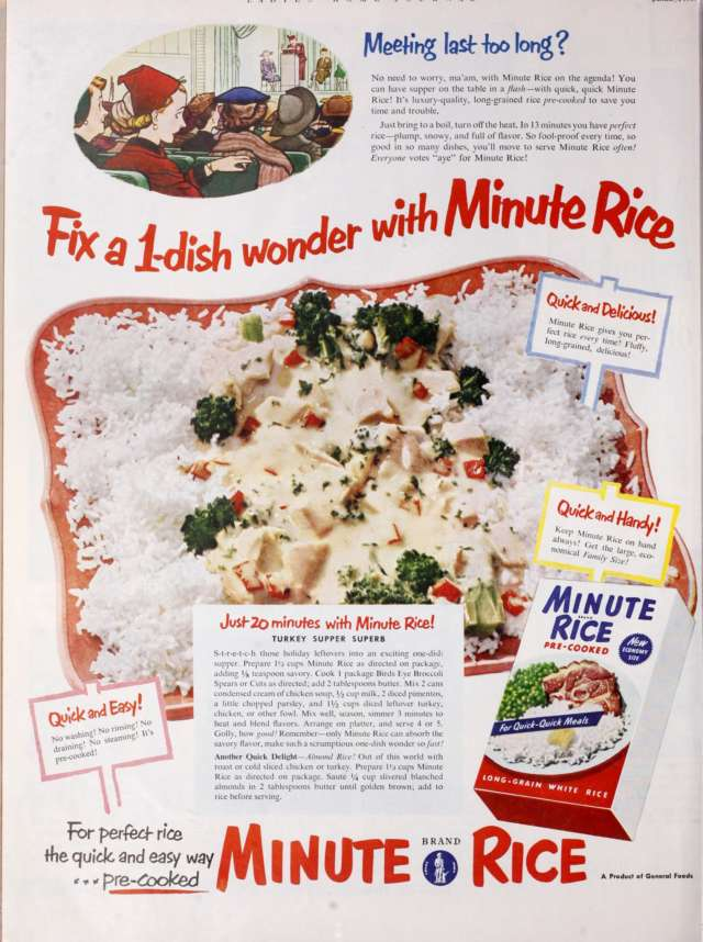 1953 Minute Rice Ad