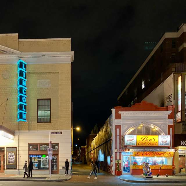 Lincoln Theatre and Ben's Chili Bowl on U Street NW