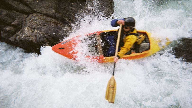 Image of whitewater kayaker