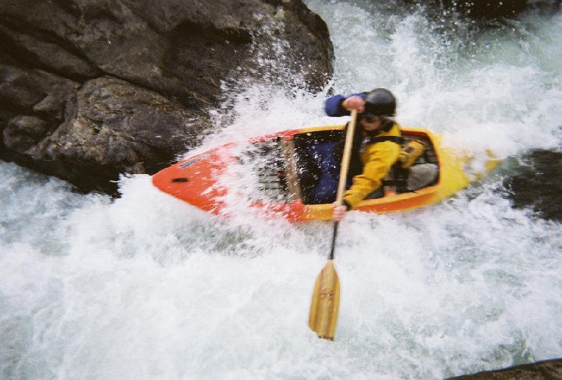Image of whitewater kayaker